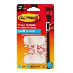 3M Command Cord Clips - 2 Large Clips 3 Med Strips