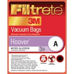 Hoover Vacuum Filters, Bags & Belts Model <b>Top Fill Convertible</b> replacement part Hoover Type A Vacuum Bags by 3M Filtrete