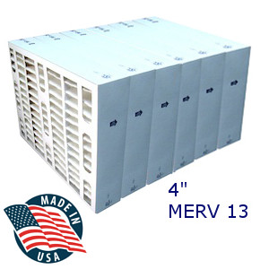"Filters Fast MERV 13 4"" Furnace Filter - 6-Pack"