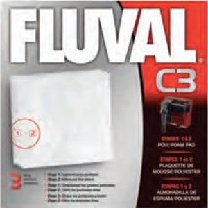 Fluval C3 Aquarium Filter Poly Foam Pad 3 pk