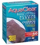 Hagen Aquarium Filters Model <b>AquaClear 50</b> replacement part Hagen A1384 Activated Carbon Filter Insert -3 Pack
