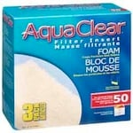 Hagen Aquarium Filters Model <b>AquaClear 50</b> replacement part Hagen AquaClear A1394 Foam Insert - 3 Pack