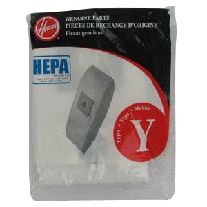 Genuine Hoover Type Y HEPA Vacuum Bags - 2-Pack
