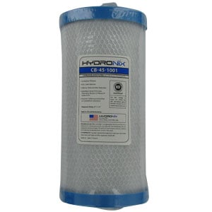 "Hydronix 10"" x 4.5"" Carbon Filter - 1 Micron"