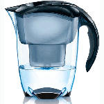 Mavea Elemaris XL Water Pitcher Filter - Black 4-Pack