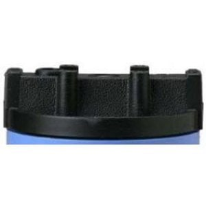 "Pentek 3/8"" Slim Line 5 Black Filter Housing Cap"