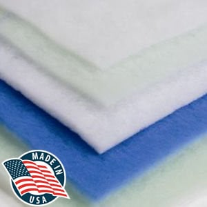 "Filters Fast 1"" Tackified Blue/White Polyester Pad"