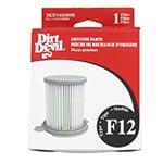 Dirt Devil Vacuum Filters, Bags & Belts Model <b>Dirt Devil Vision Bagless Canister 082600</b> replacement part Dirt Devil F12 HEPA Vacuum Filter Cartridge