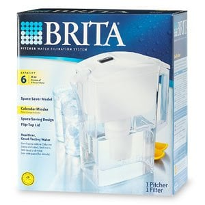 "Brita Pitcher ""Space Saver"" Water Pitcher 4-Pack"